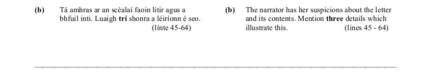 2005 LC Higher Reading Comprehension Q2b