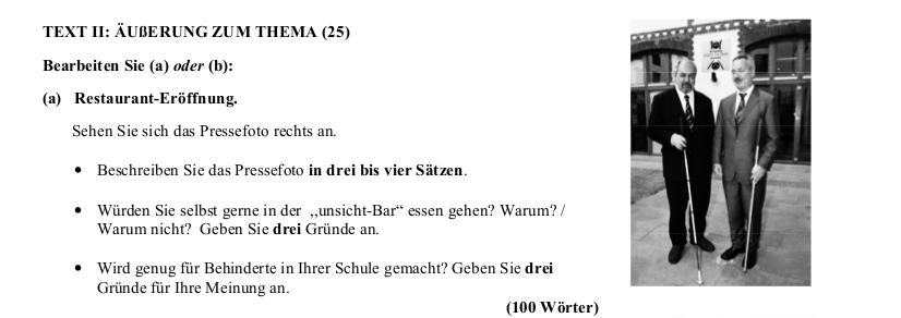 2005 Äußerung zum Thema