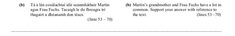 2006 LC Higher Reading Comprehension Q3b