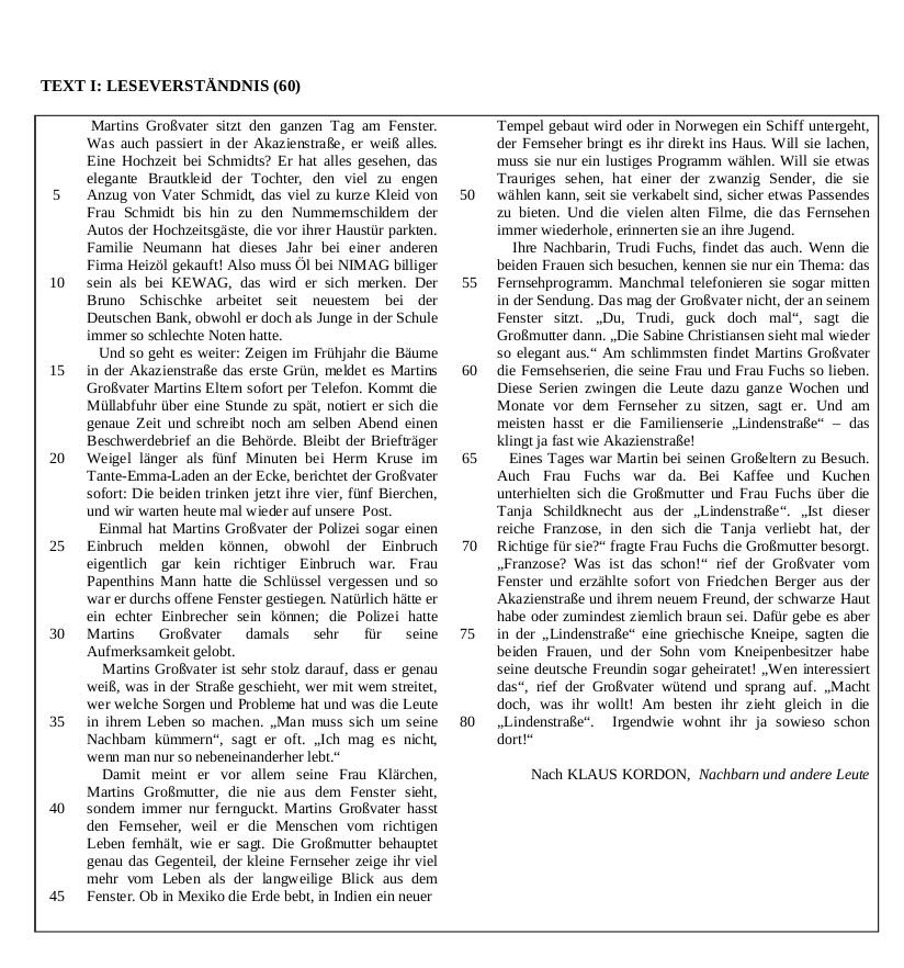 2006 LC Higher Reading Comprehension Q1a