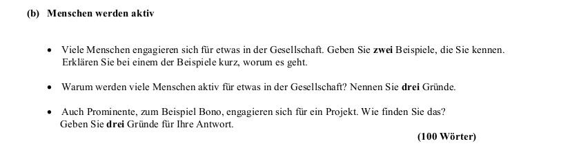 2007 Äußerung zum Thema
