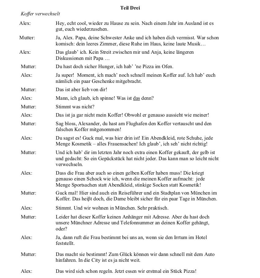 2009 German LC Aural Transcript