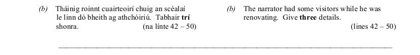 2010 LC Higher Reading Comprehension Q2b