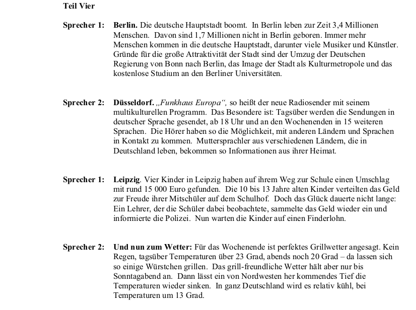 2010 German LC Aural Transcript
