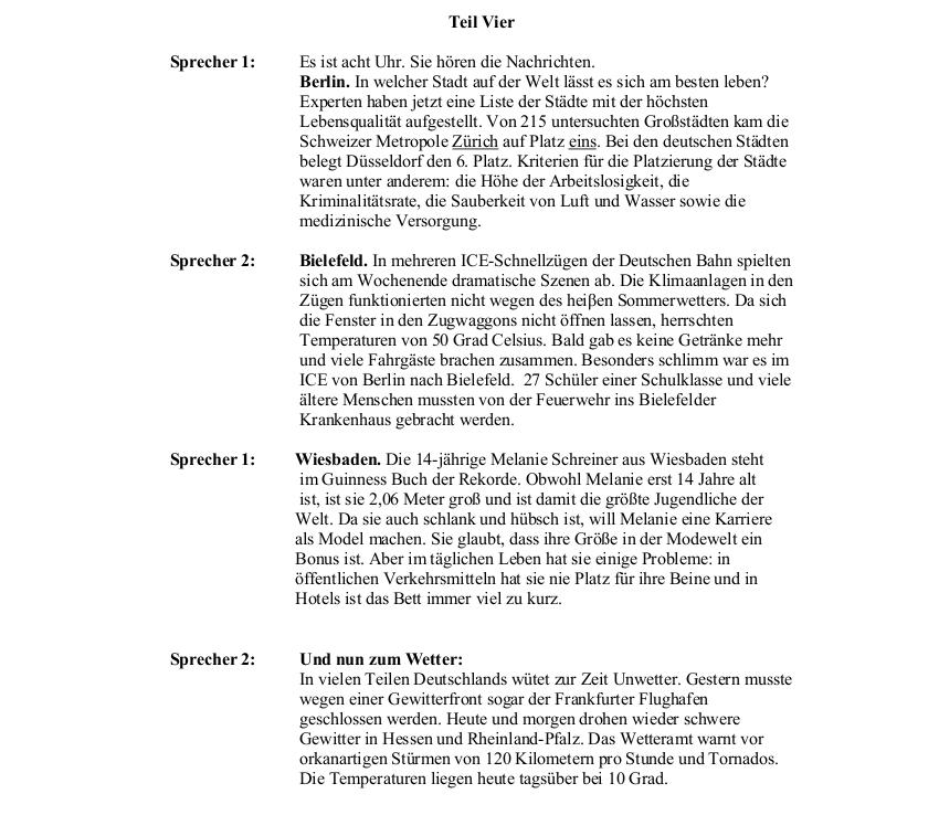 2011 German LC Aural Transcript