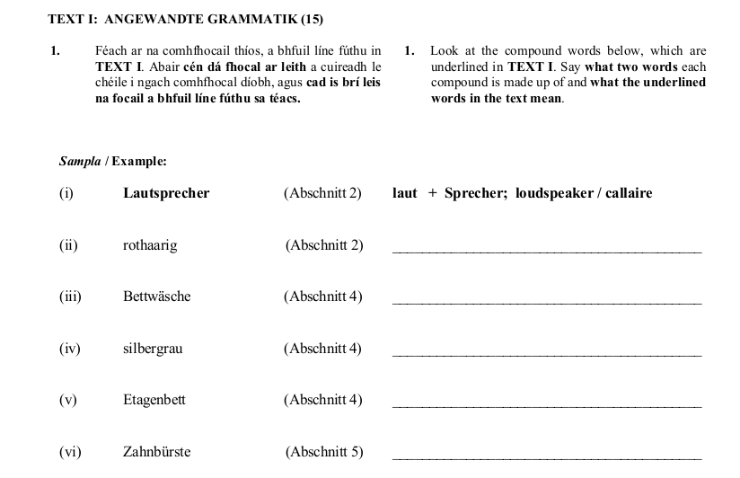 2008 LC Ordinary German Angewandte Grammatik
