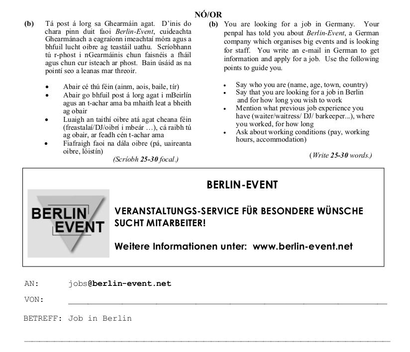 2010 LC Ordinary German Ausserung zum Thema