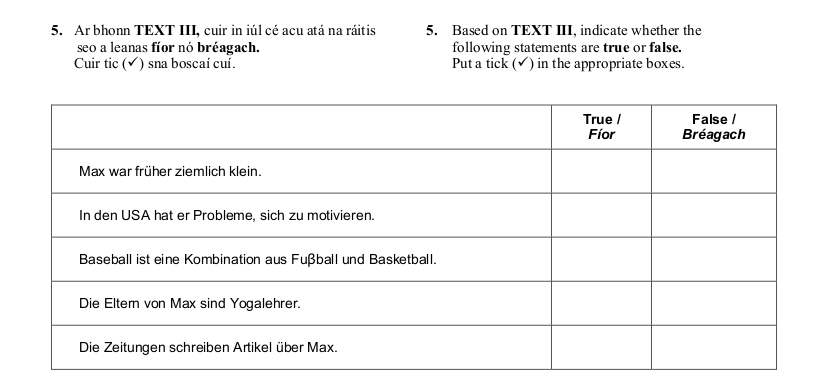 2011 LC Ordinary German Reading Comprehension 3