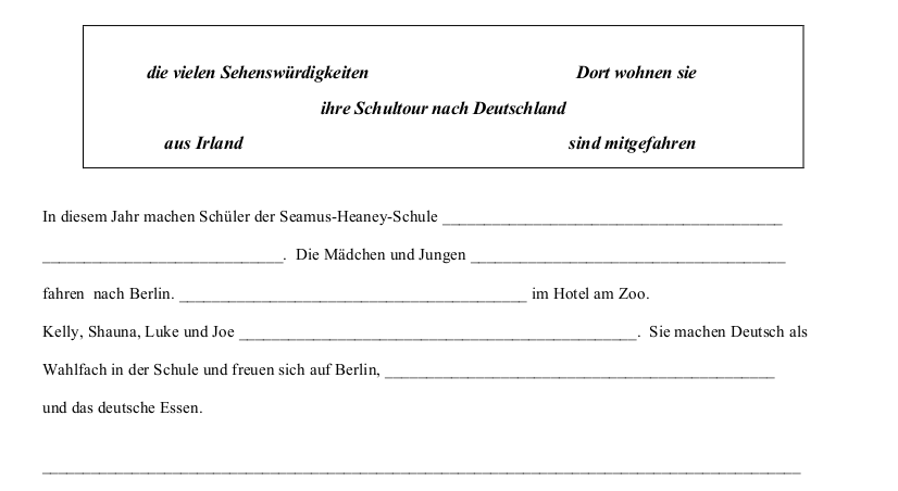 2011 LC Ordinary German Schriftliche Produktion