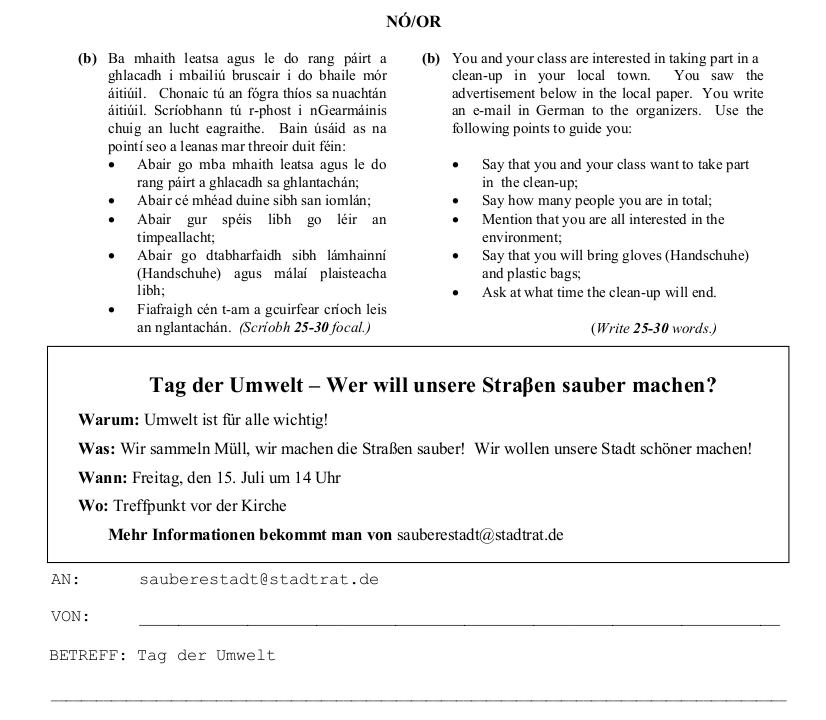 2012 LC Ordinary German Ausserung zum Thema