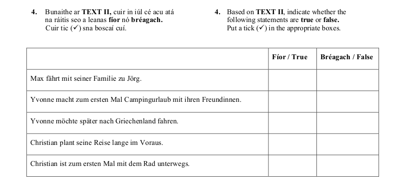 2013 LC Ordinary German Reading Comprehension 2