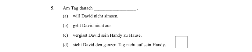 2014 LC Ordinary German Reading Comprehension 3