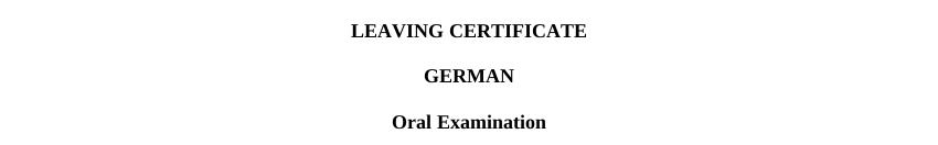 German Oral Exam 27