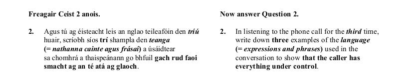 2016 German Leaving Cert Aural Exam