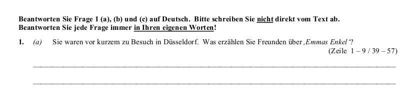 2016 German Leaving Cert Leseverstaendnis II